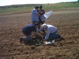 Toma de muestras de los suelos de Zamora