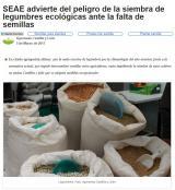SEAE advierte del peligro de la siembra de legumbres ecológicas ante la falta de semillas